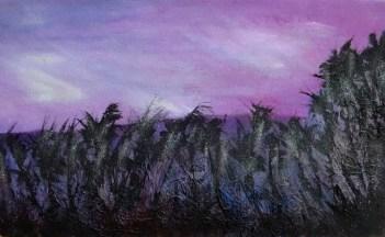 Twilight over Valdivia Spanish Landscape
