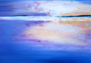 Abstract Seascapes in oil paints
