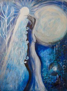This is Goddess Selene - The Moon Goddess