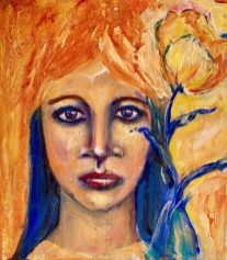 THE GIRL WITH A YELLOW TULIP