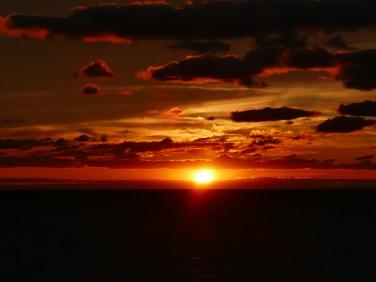 Sonnenuntergang im Ludington State Park