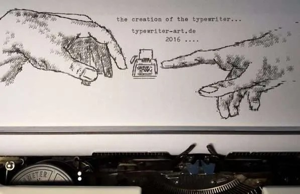 Typewriter art by Rober Doerfler