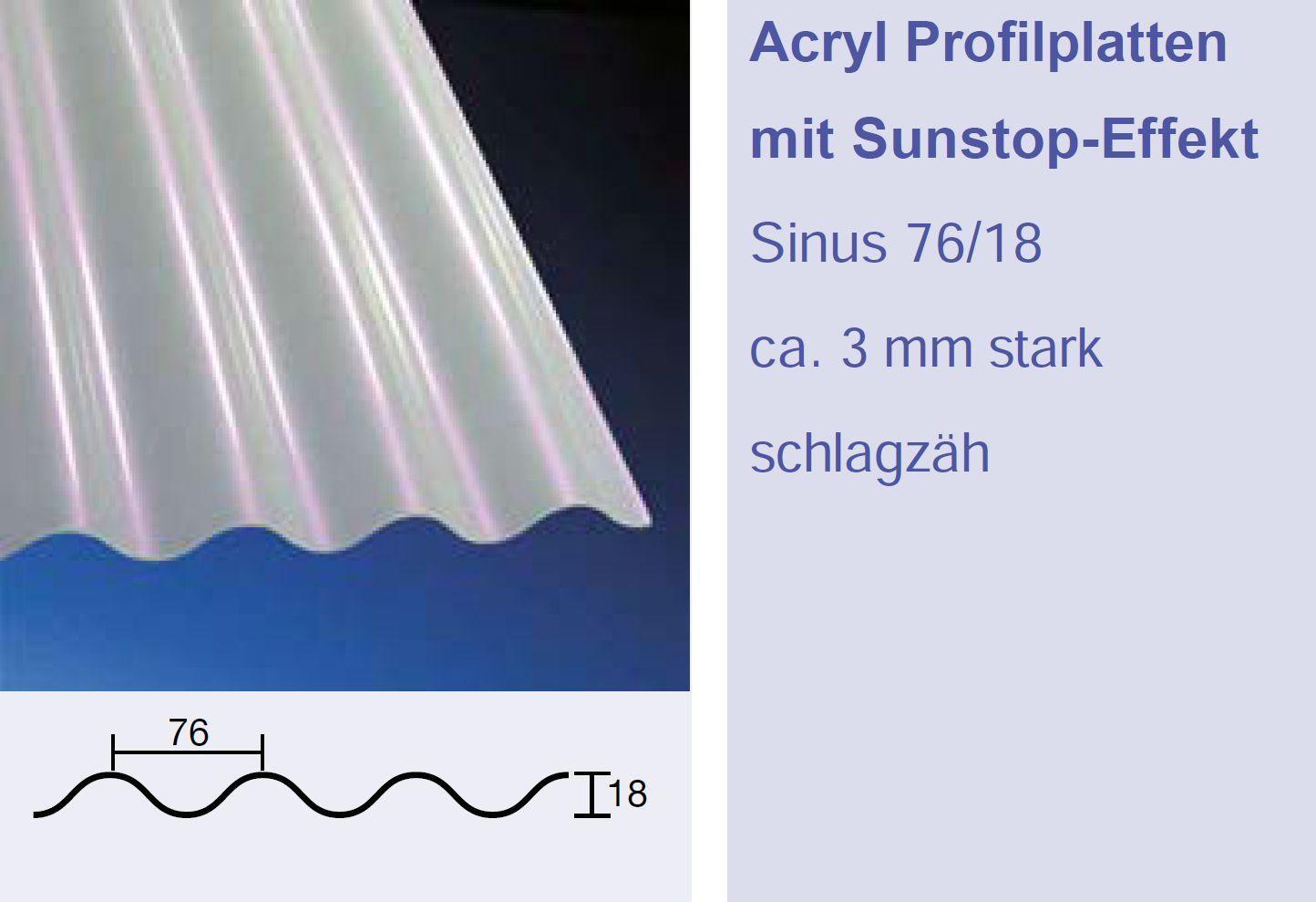 3Mm Acrylglas Wellplatten 76 18 Sinus