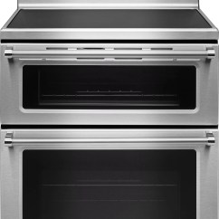 Kitchen Aid Ovens Pantry Cabinet Plans Kitchenaid 30 Free Standing Electric Double Oven Range Kfed500e Stainless Steel Kfed500ess