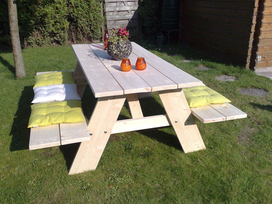 Steigerhouten picknicktafel  Tuinmeubels van steigerhout