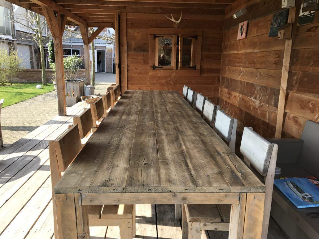Steigerhouten Tafels voor binnen  buiten robuust stoer