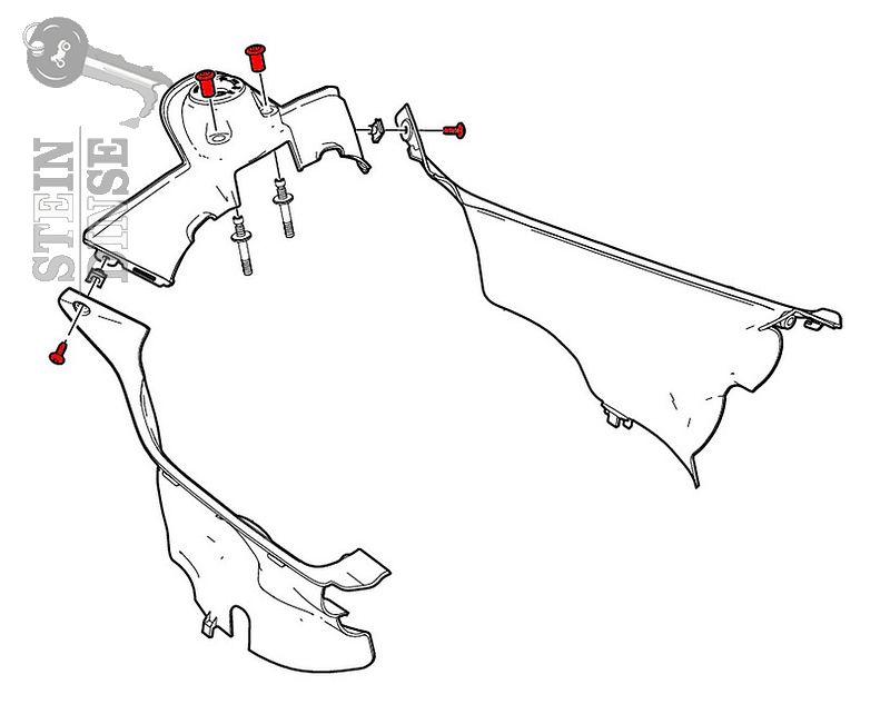 CNC Racing Ducati Zündschlossabdekungsschraubensatz Alu (4