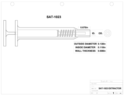 SAT-1023 EXTRACTOR DRAWING