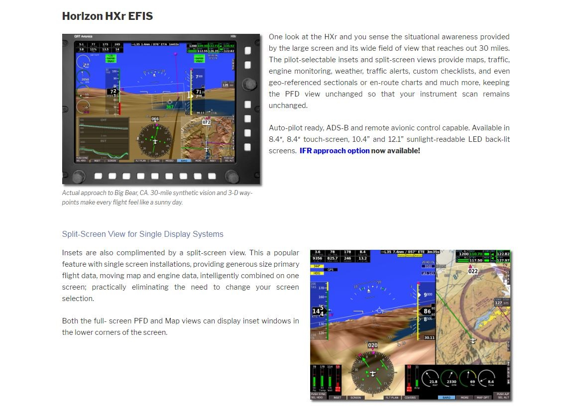 hight resolution of one look at the hxr and you sense the situational awareness provided by the large screen and its wide field of view that reaches out 30 miles
