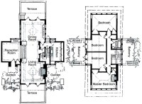Frank Lloyd Wright House Plans Floor Plan - Brandes House ...