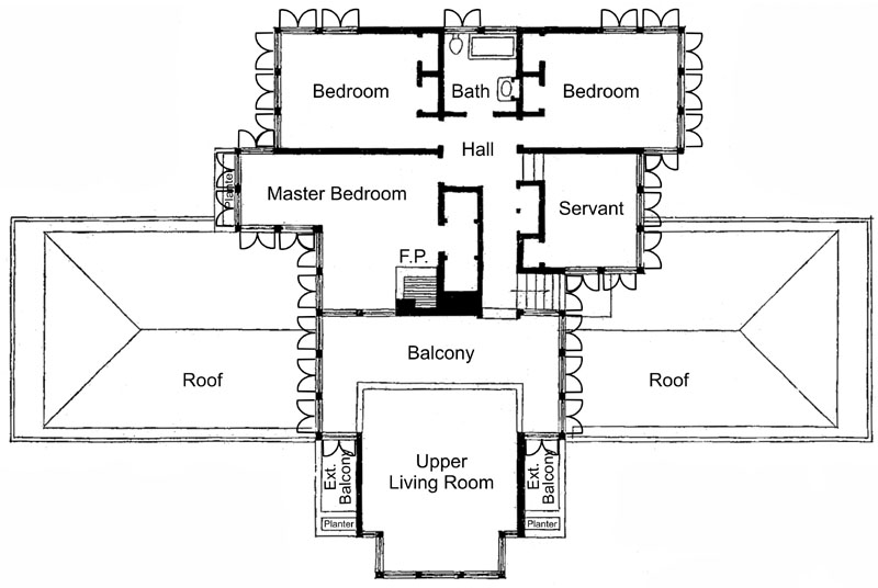 Frank Lloyd Wright Winslow House Floor Plans