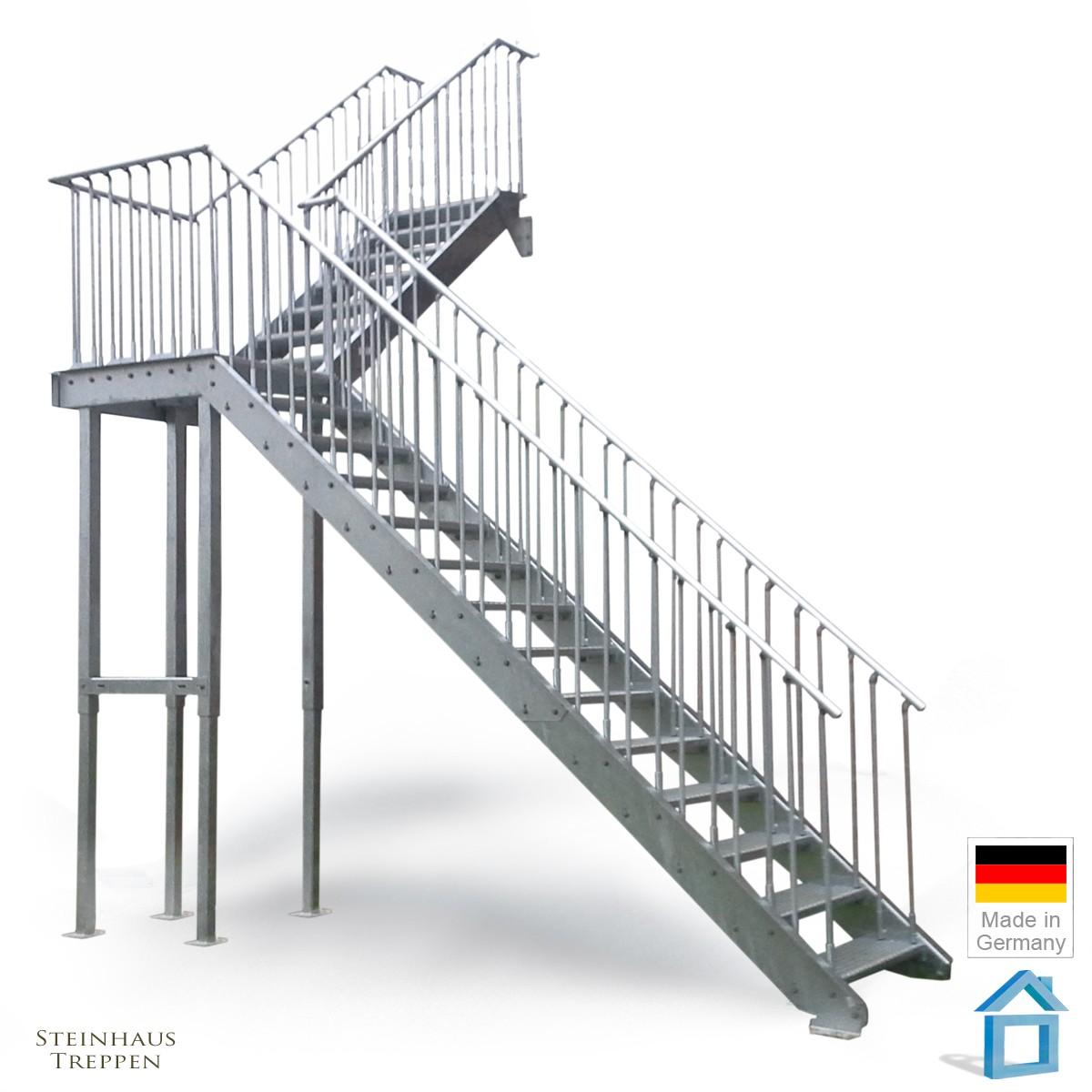 Auentreppe Verzinkt Perfect Auentreppe Mit Balkon Auentreppe With