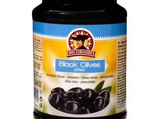 Schwarze Oliven entsteint 350g