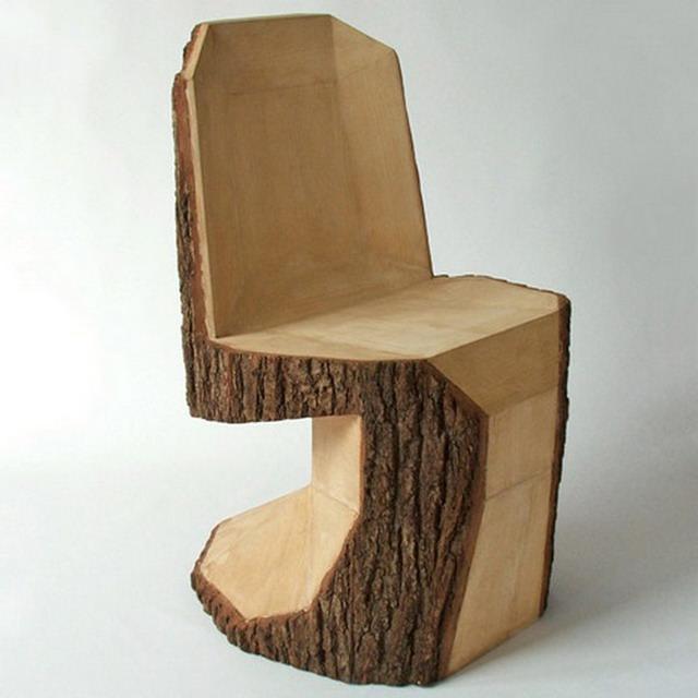 Scaun din stejar - piesa din masiv