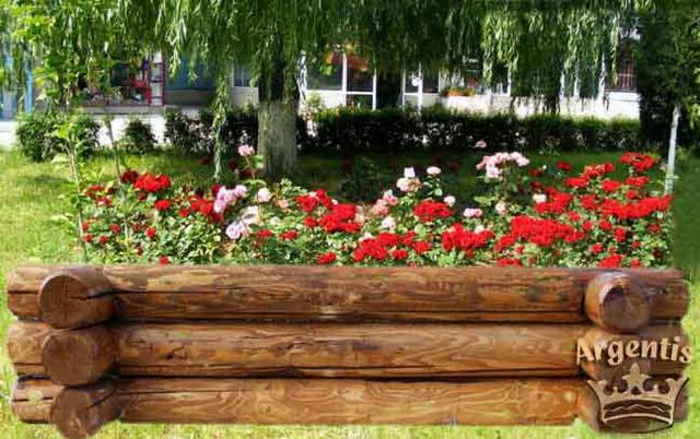 Jardiniera de gradina din busteni - argentis.ro