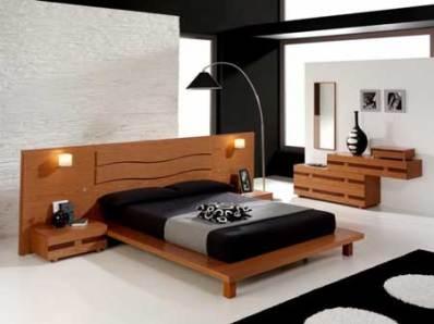 mobila de dormitor - decor cu lemn