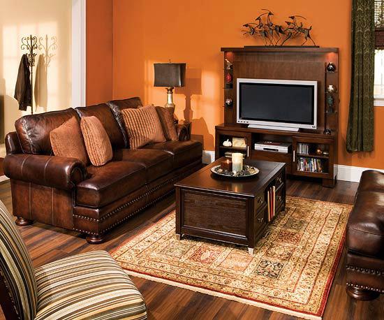 Sufragerie portocalie decorata clasic idei de amenajare a living