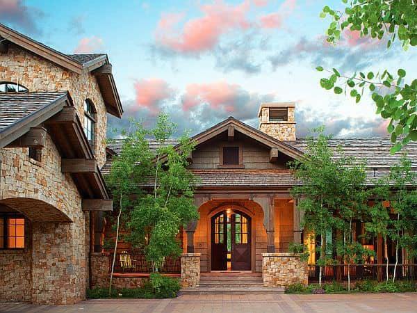 Casa din Colorado Casa din lemn si piatra