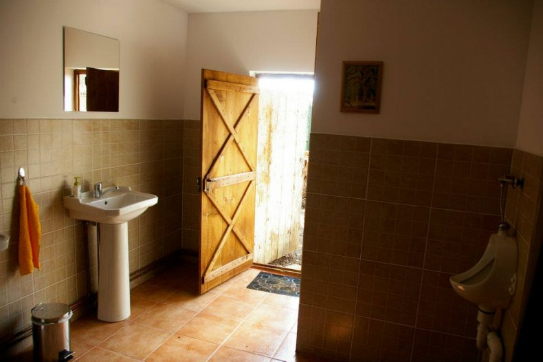 Accente rustice pentru camera de baie pentru barbati