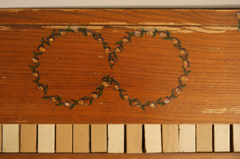 Pictura pe lemn - Pianul