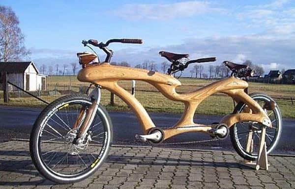 hvlpa - Design inovator pentru bicicleta dublă din lemn facuta de studenti germani