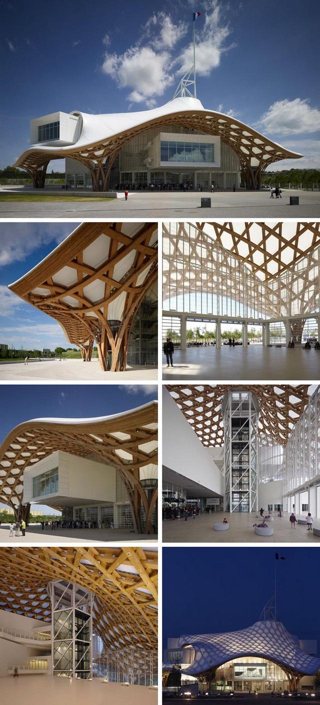 structura din lemn - Centru Pompidou