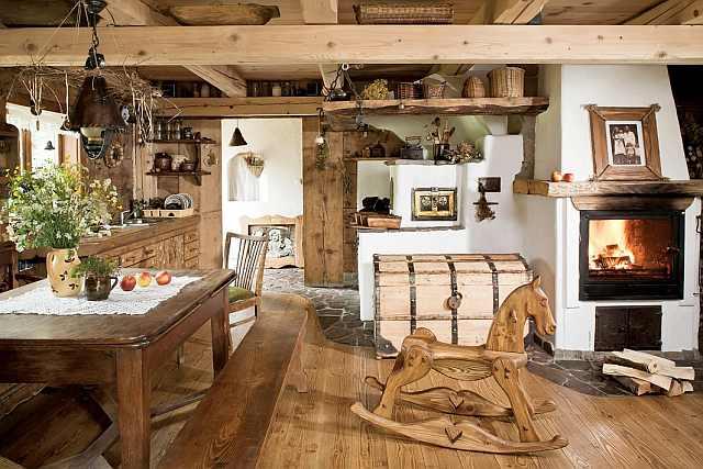 interior de cabana
