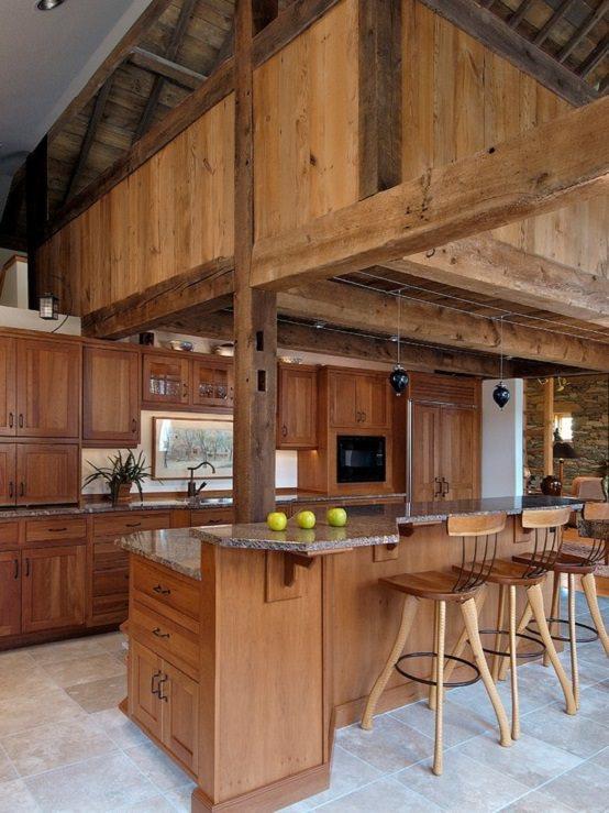 bucatarie din lemn masiv