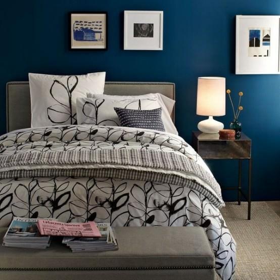 accesorii albastre pentru dormitor