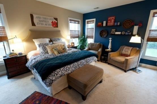 design interior cu albastru