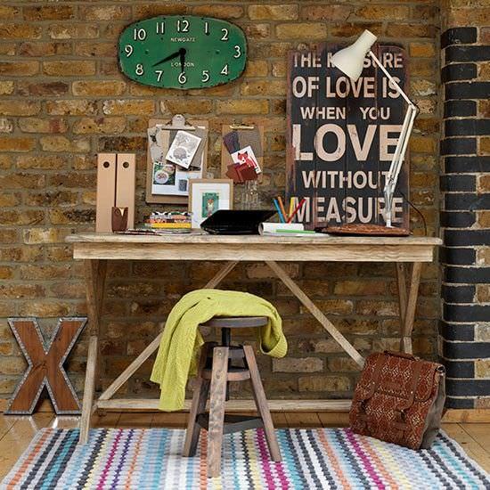 design rustic - - biroul de acasa