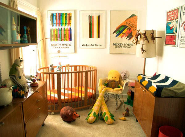 camera copilului in stil retro