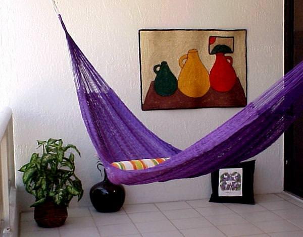 hamac in living room