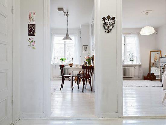 apartament scandinav cu o camera