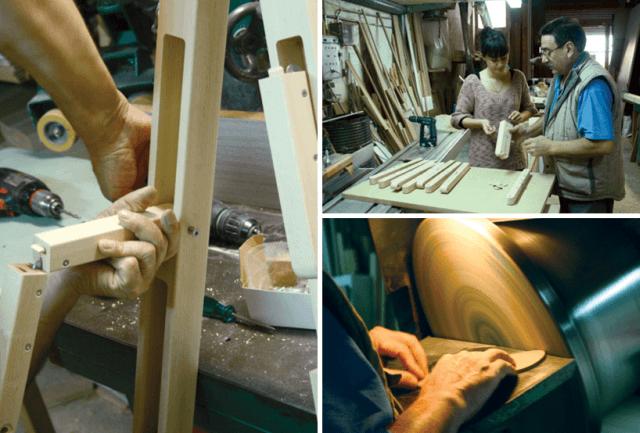 exemple de imagini din timpul construcției scării