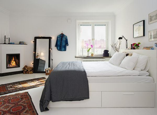 dormitor alb - -albele interioare