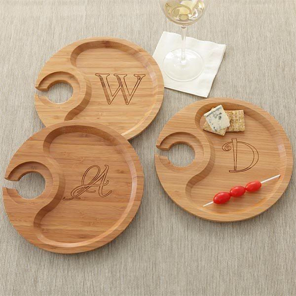 tava din lemn - Farfurie din lemn pentru aperitive