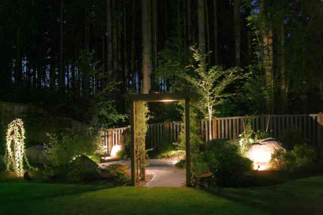 perspectiva nocturna - iluminatul curtii