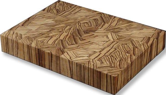 tocator din lemn de zebrano lipit pe contrafibra blaturi de masa