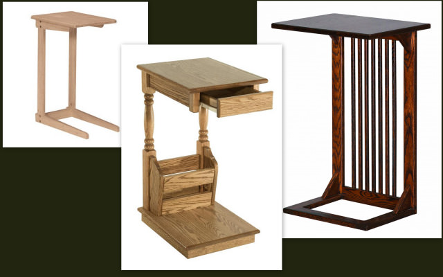 mobila din lemn masiv - masuta auxiliara