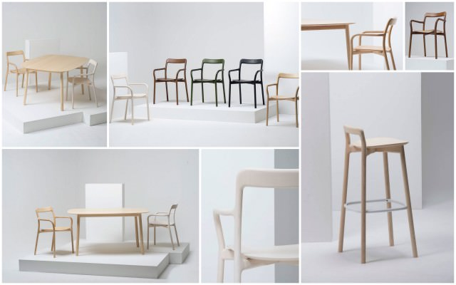 scaune mese scaun de bar - seria Branca