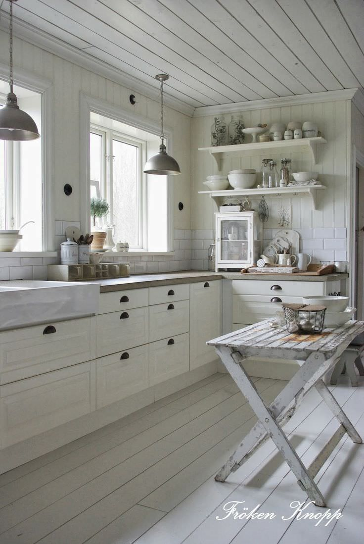 Design suedez autentic - alb vintage Fröken Knopp