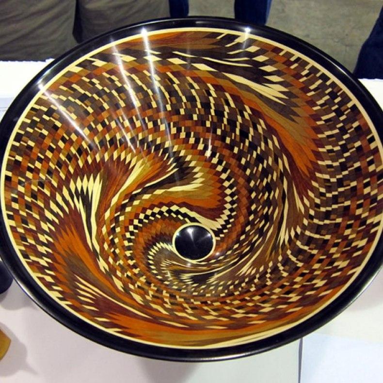 Segmented Wood bowl by Hal Metlitzky