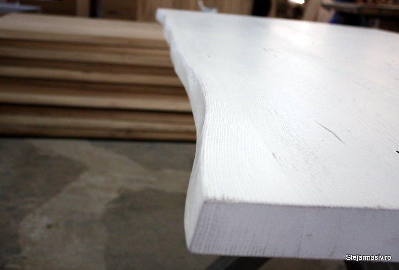 masa din stejar bordura neregulata