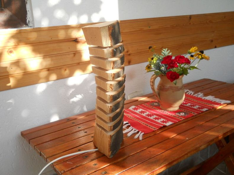 veioza de lemn