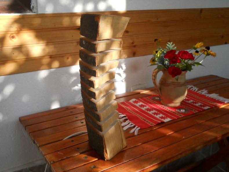veioza din lemn