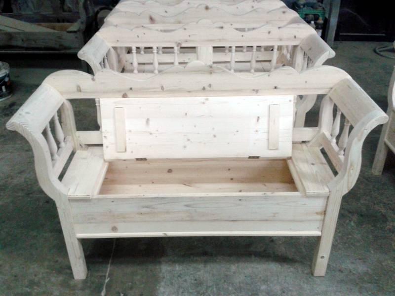 banca din lemn