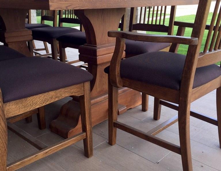 mobilier de terasa din stejar