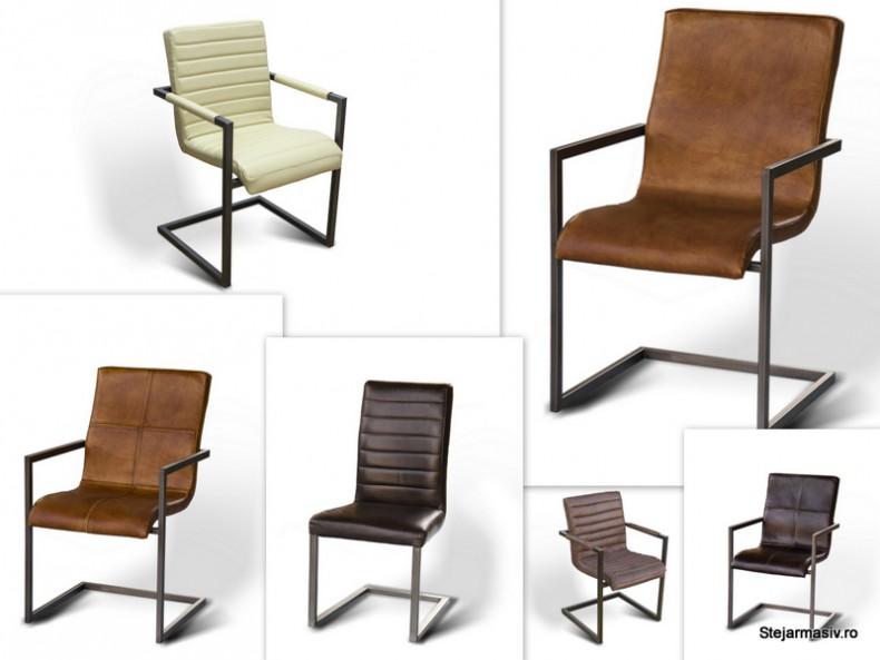 scaune pe rama metalica