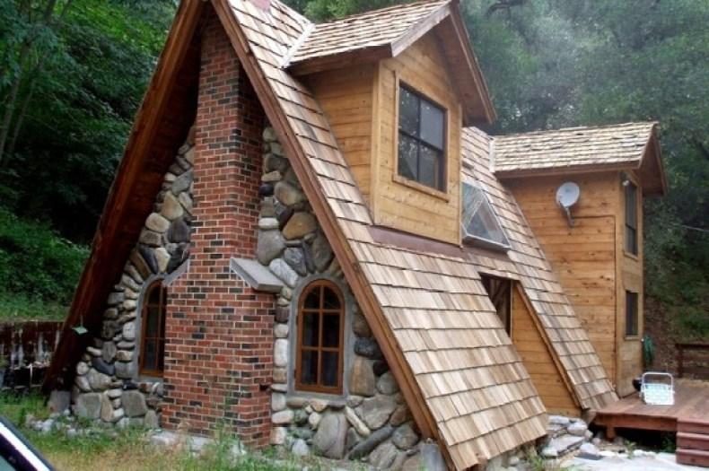 cabana de piatra A frame cabana de vacanta